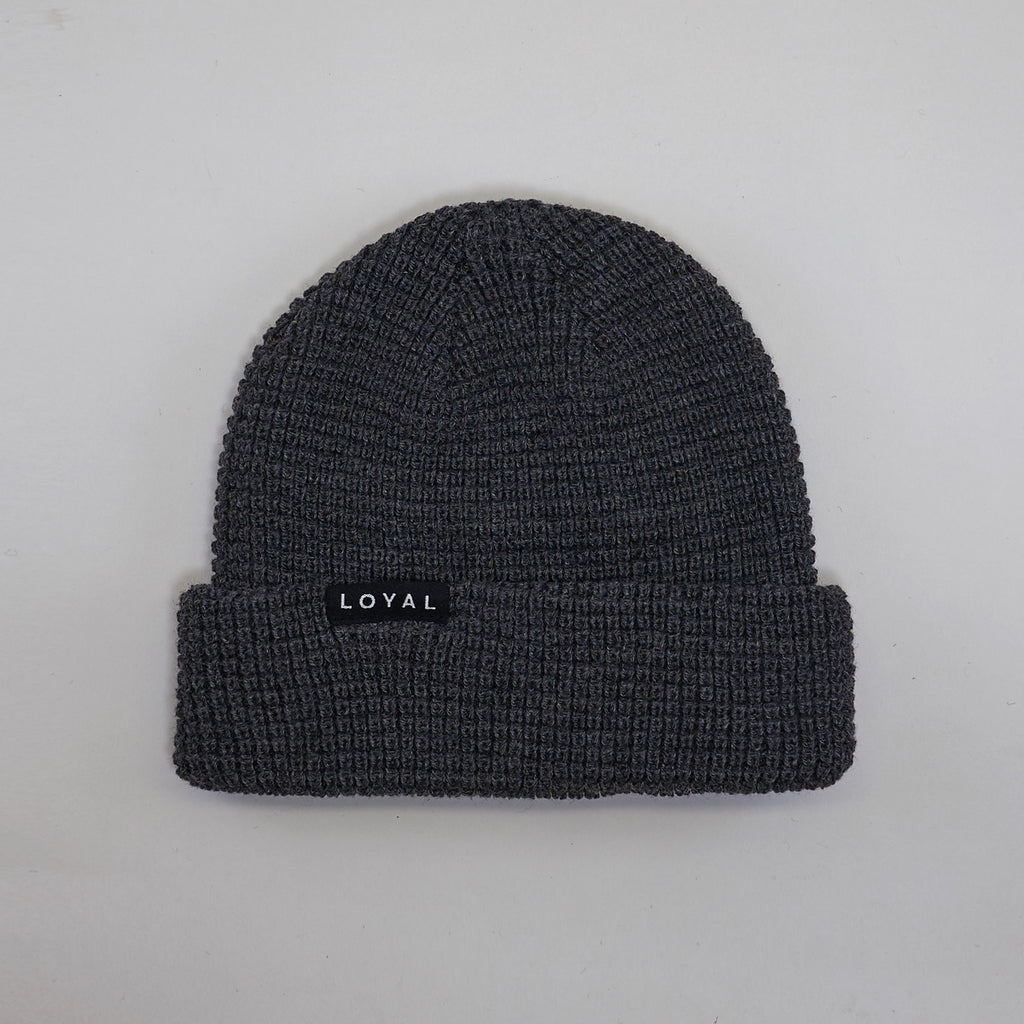 FITTED WAFFLE HAT - GREY
