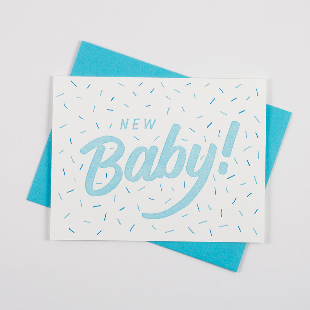 New Baby Card - Blue