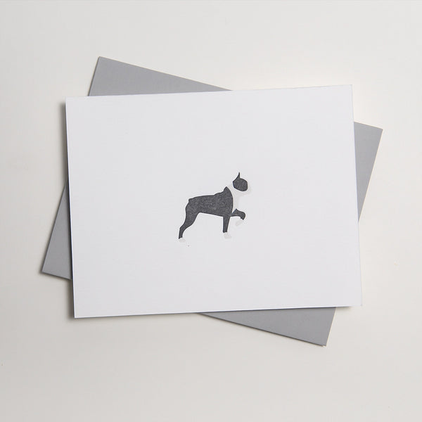 Letterpress Dog Card - Goose