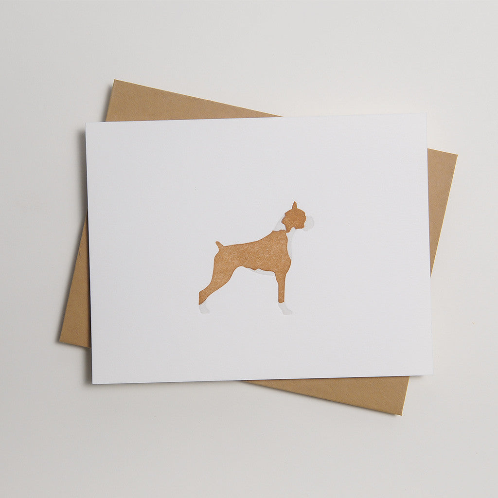 Letterpress Dog Card - Buddy