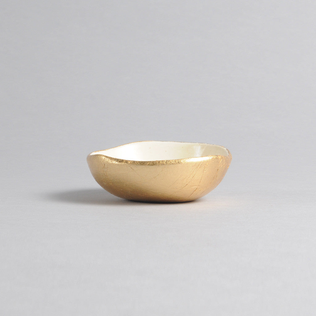 Ring Dish - Gold Bottom Dish