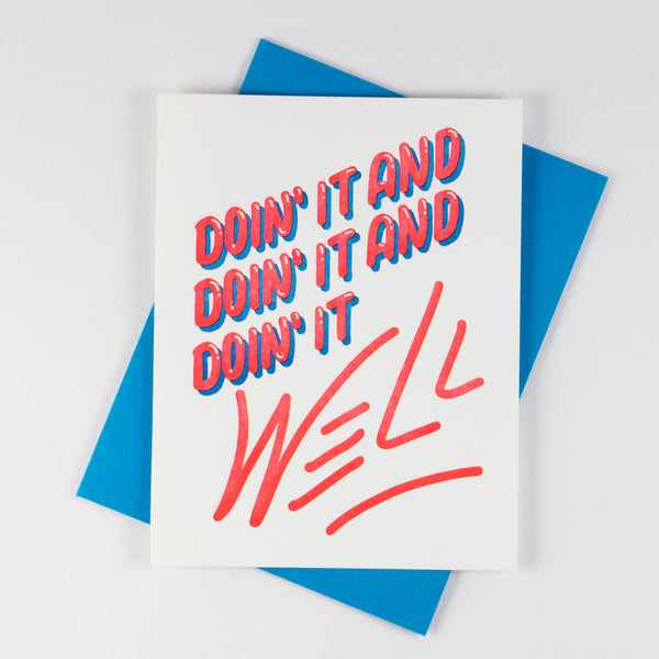 Lyric Series - Doin' It Well Card
