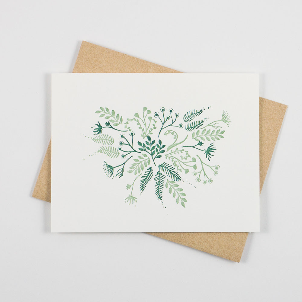 Floral Card - QTY: 6