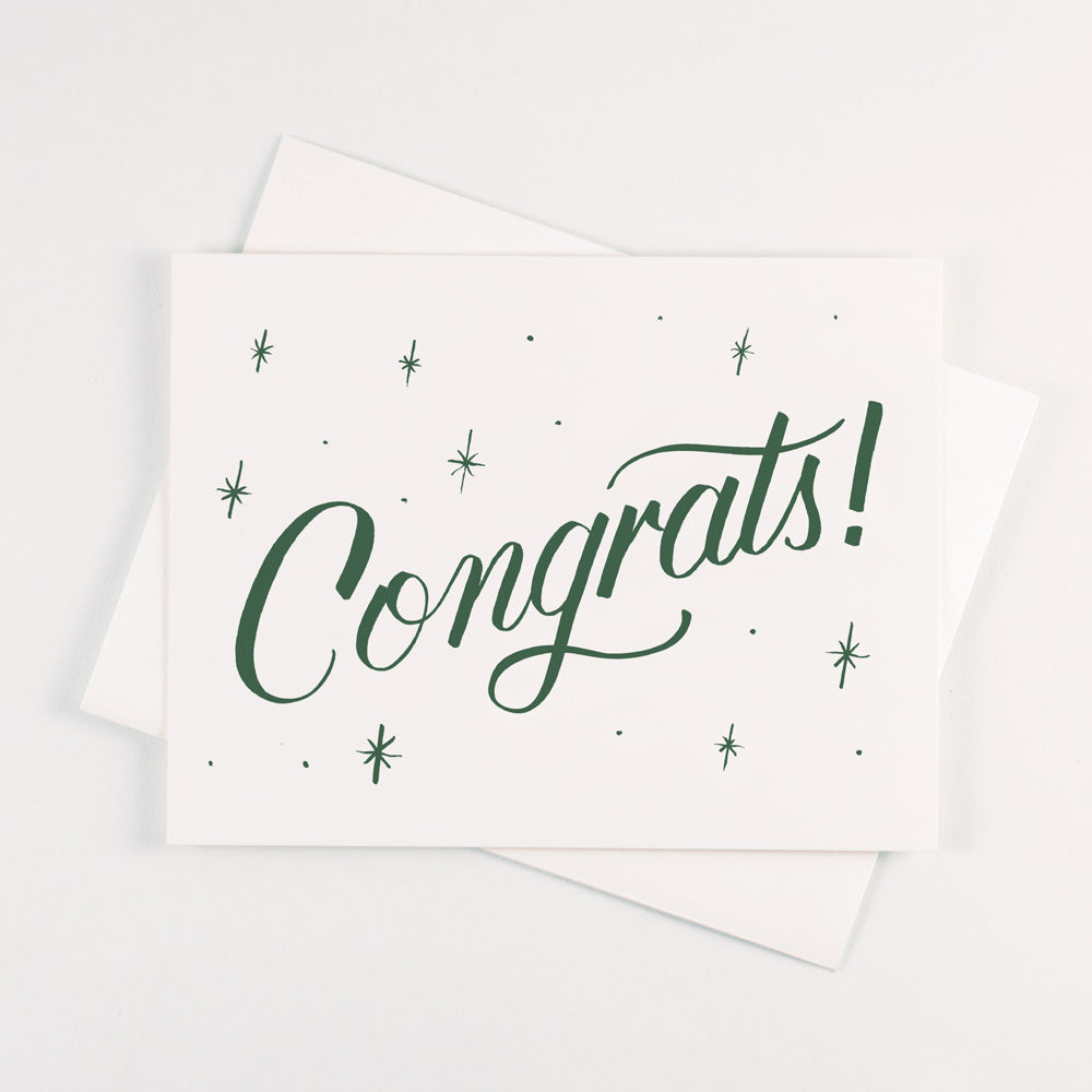 Forest Green Congrats Card