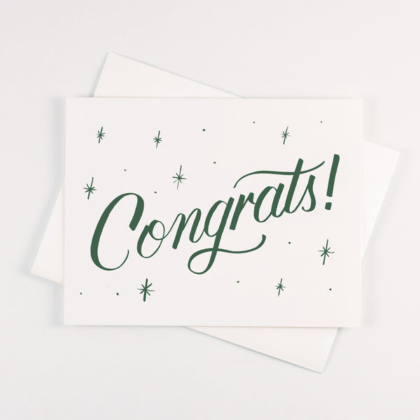 Forest Green Congrats Card - QTY: 6