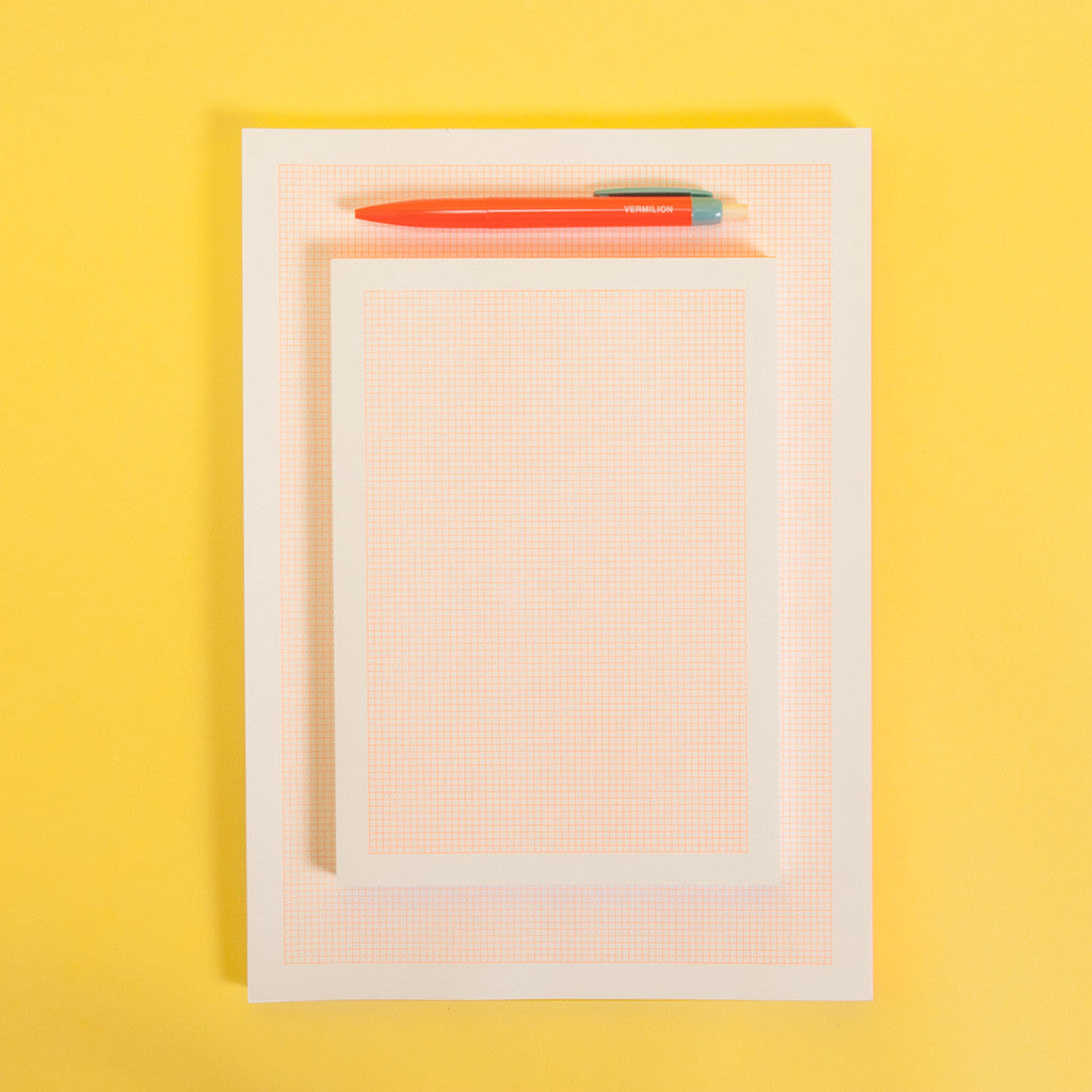Grid Notepad - Orange