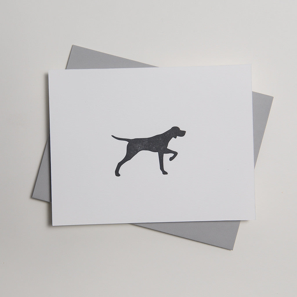 Letterpress Dog Card - Huckleberry