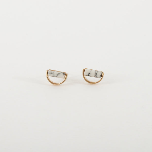 Grey Marble Studs