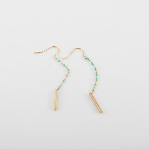 Turquoise Chain Earring