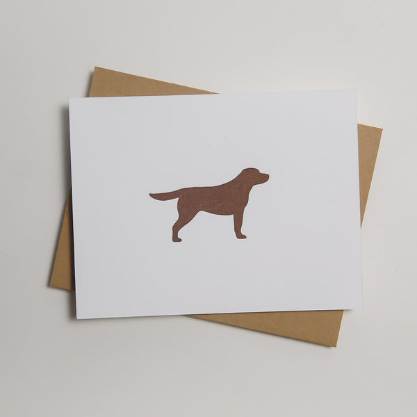 Letterpress Dog Card - Moose