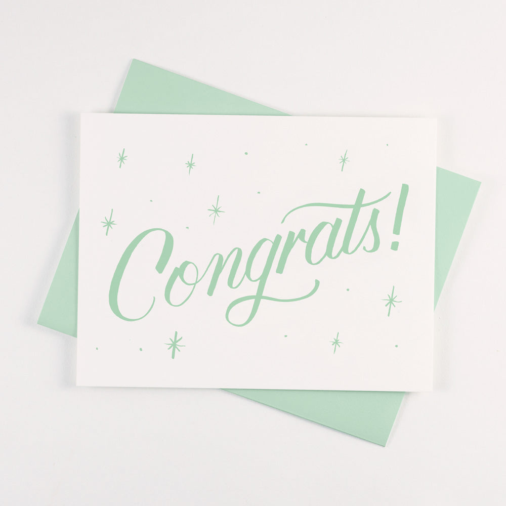 Mint Green Congrats Card - QTY: 6