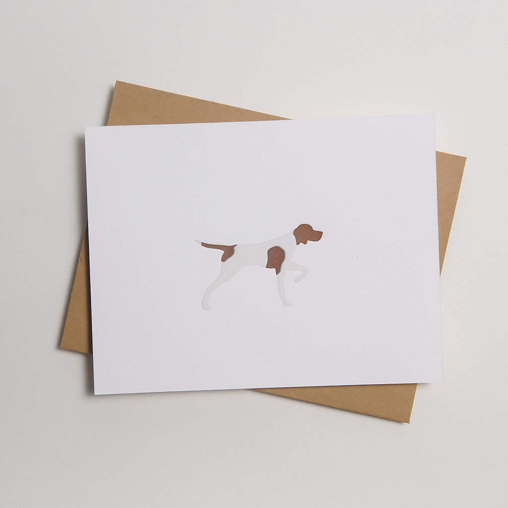 Letterpress Dog Card - Moly