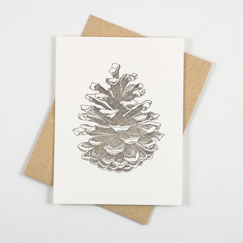 Pinecone Card - QTY: 6