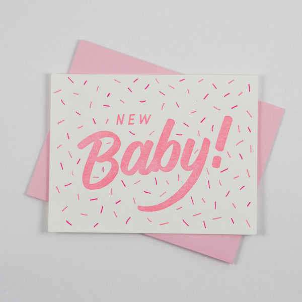 New Baby Card - Pink