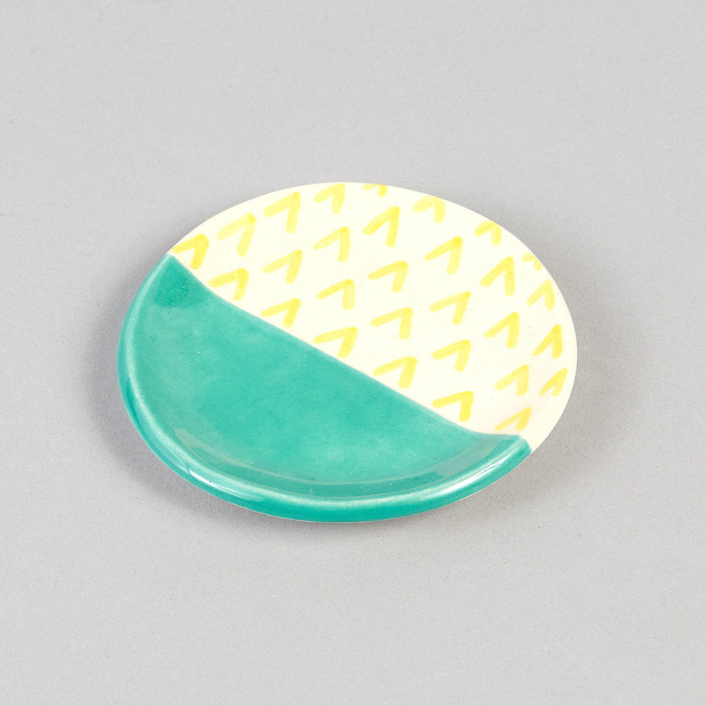 Ring Dish - Porcelain Painted - Turquoise