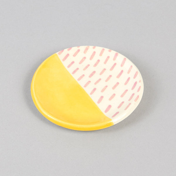 Ring Dish - Porcelain Painted - Yellow