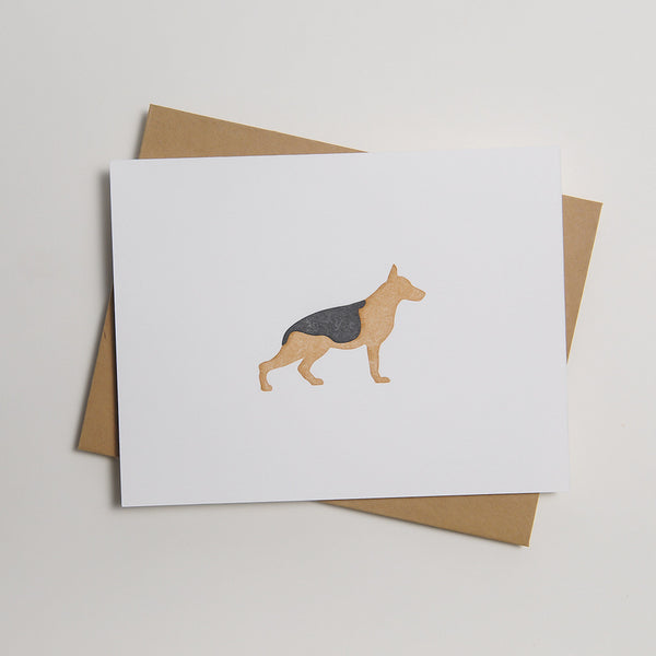 Letterpress Dog Card - The General
