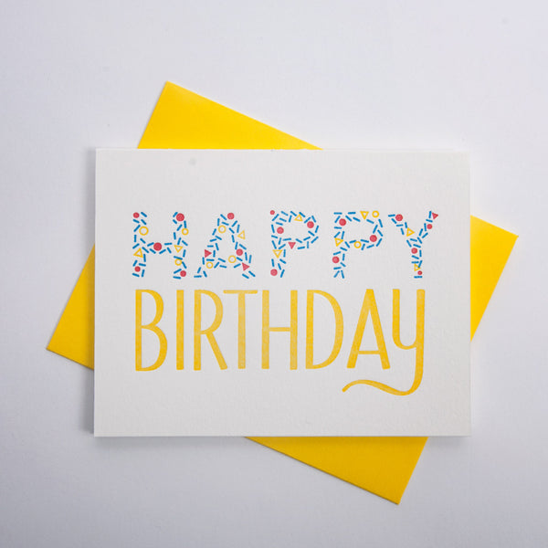 Birthday Series - Confetti Lettering