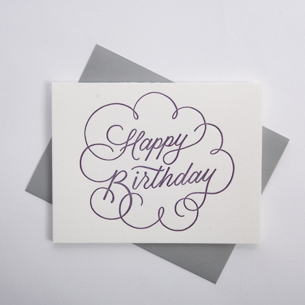 Birthday Series - Purple Script Lettering