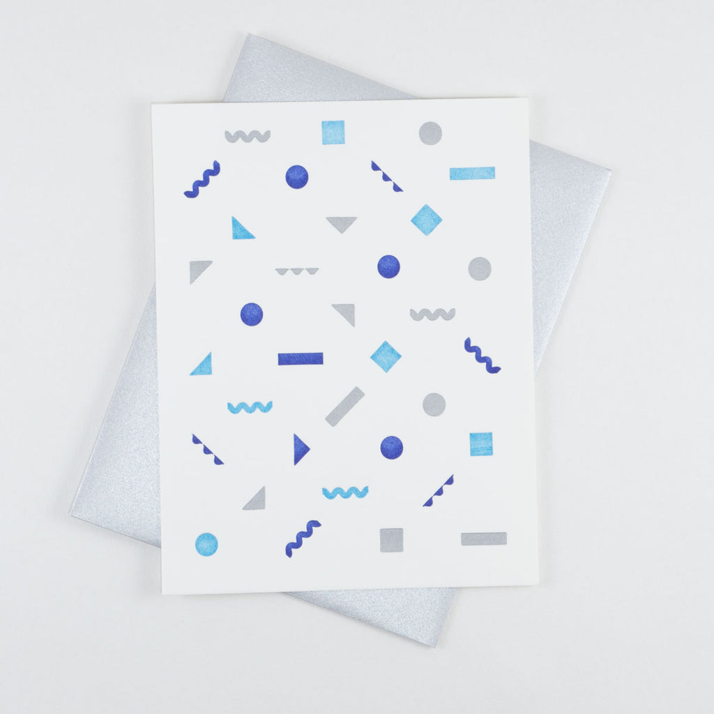 Blue Confetti Card