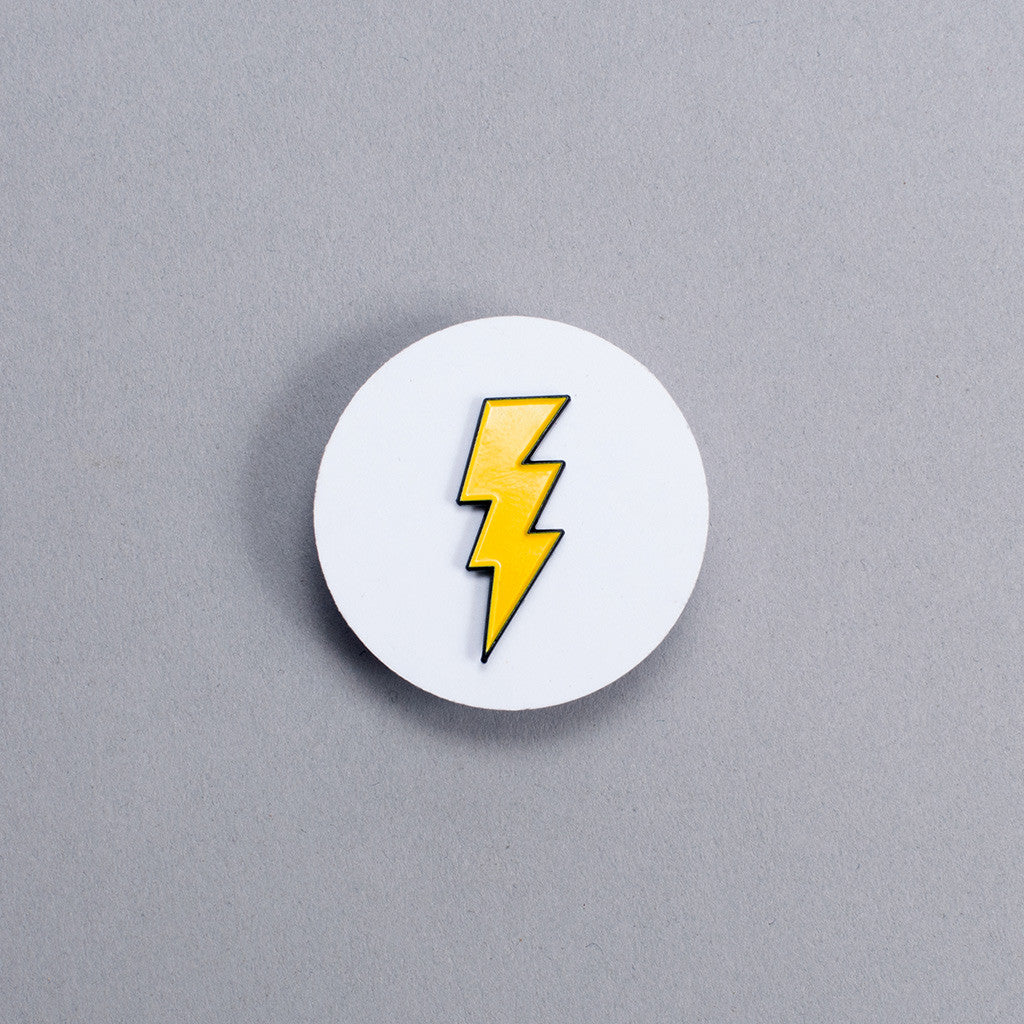 Enamel Pin - Lightening Bolt