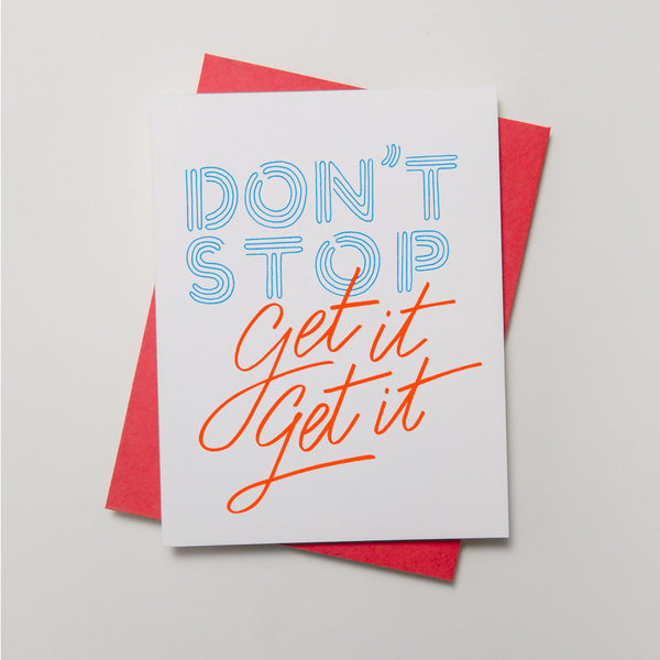 Lyric Series - Don't Stop Card