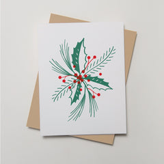 Holiday - Holly & Berries Card