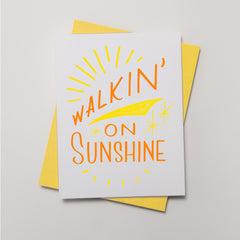 Lyric Series - Walkin' On Sunshine Card