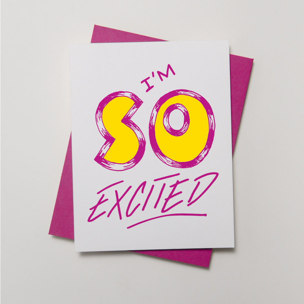 Lyric Series - I'm So Excited Card