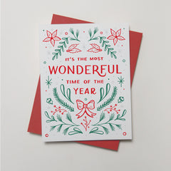 Holiday - Most Wonderful Time Card