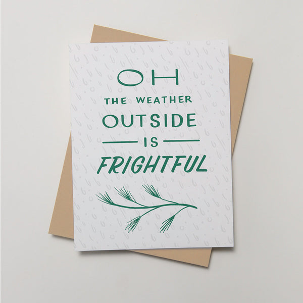 Holiday - Frightful Weather Card