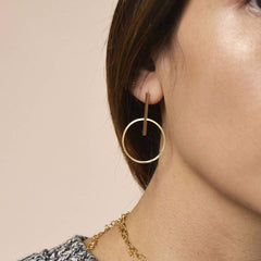 Swinging Hoop Earring