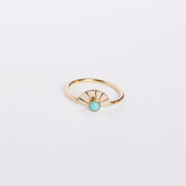 Arc Turquoise Ring