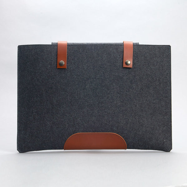 Felt & Leather Laptop Case