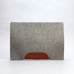 Felt & Leather Laptop Sleeve
