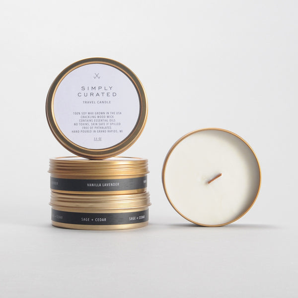 Wood Wick Travel Candle