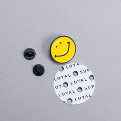 Enamel Pin - Smile - QTY: 6