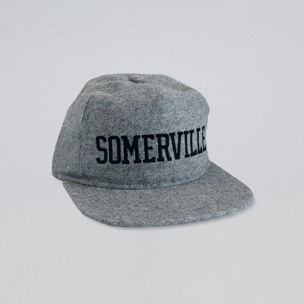 SOMERVILLE GREY HERRINGBONE FLANNEL HAT