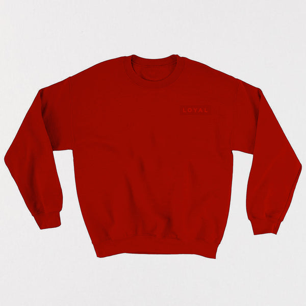 LOYAL Champion Crewneck - Red