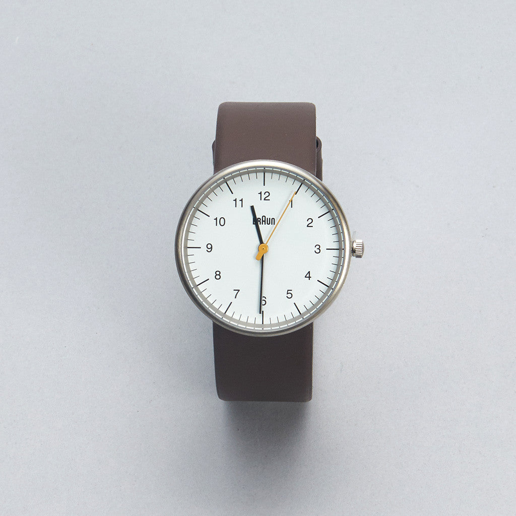 Braun Watch - White Face, Brown Leather Band