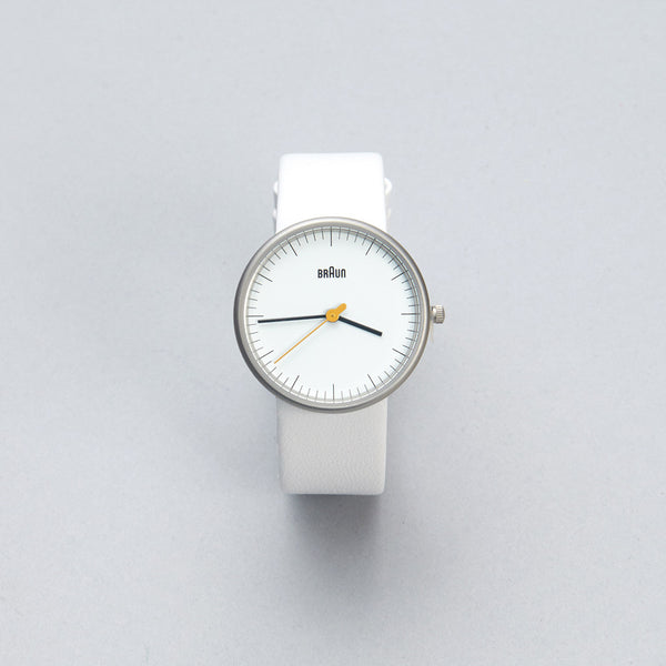 Braun Watch - White Face, White Leather Band