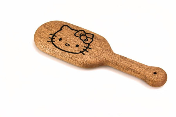 Laser Engraved Kitty BDSM Spanking Paddle