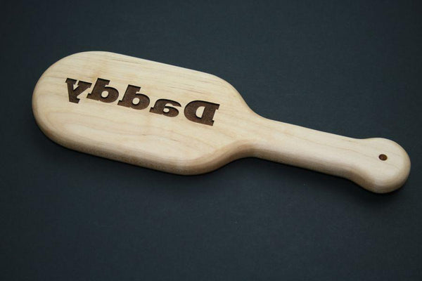 Daddy Laser Engraved BDSM Spanking Paddle