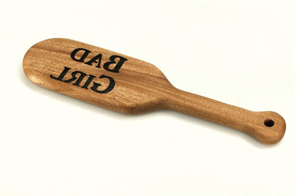 Bad Girl Engraved BDSM Spanking Paddle