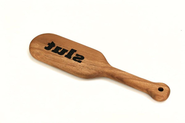 Slut Laser Engraved BDSM Spanking Paddle