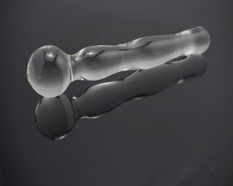 Clear Wand Glass Dildo (D25)