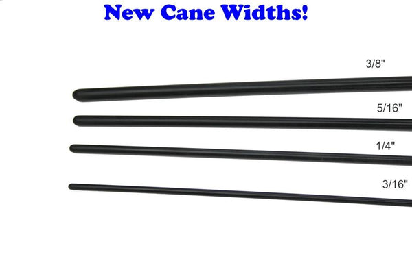 BDSM Spanking cane Black Delrin Rod Cane New Diameters!