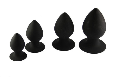 Silicone Anal Dilator Butt Plugs Available in 4 Sizes