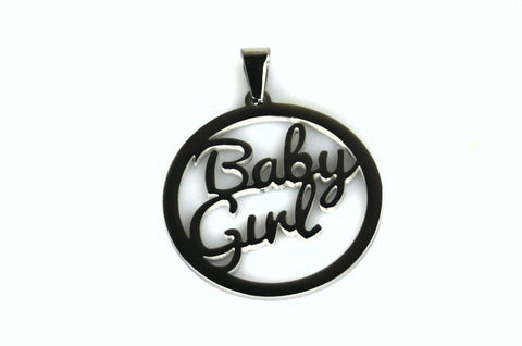 Baby Girl Stainless Steel Pendant Collar Tag