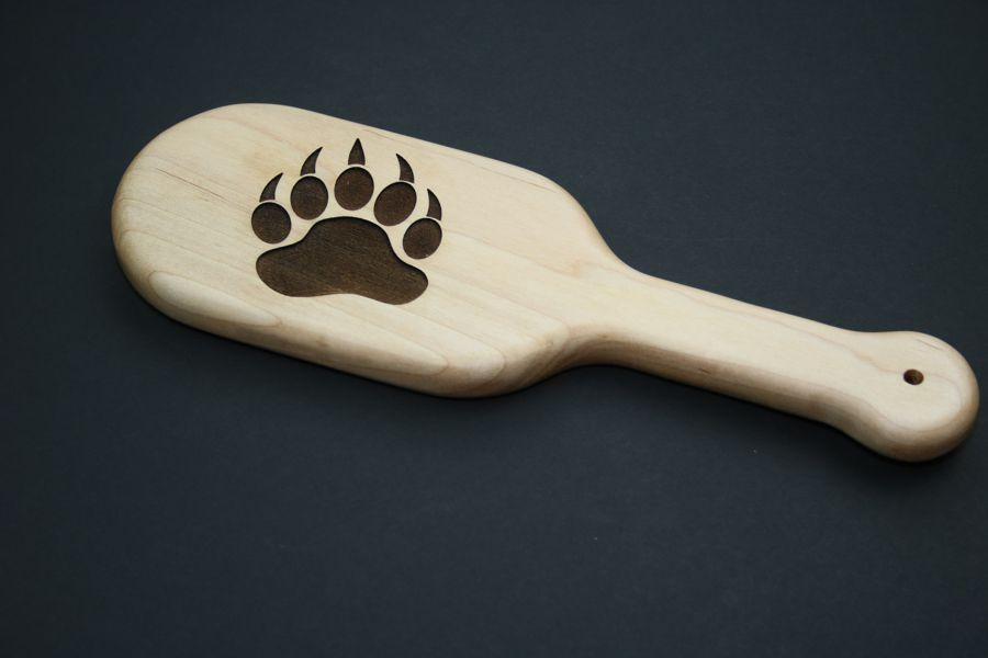 Bear Claw Impression Spanking Paddle by The Kink Factory
